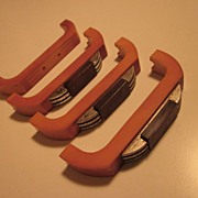 Vintage Art Deco Set of Three Bakelite Furniture Dresser Handles