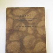 Book: Egypt A Brief History From Ancient to Modern Times by Elgood, 1943