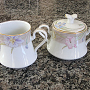 Mikasa Charisma Beige Covered Sugar and Creamer