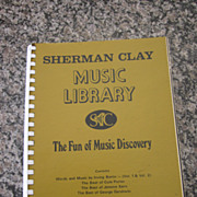 Sherman Clay Music Library - Berlin, Porter, Kern, Gershwin