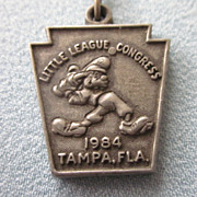 1984 Walt disney Little League Congress Tampa, Fla Pendant or Charm
