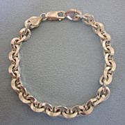 Sophisticated Italian Sterling Silver 7-1/4&quot; Bracelet
