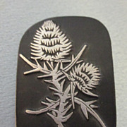Pewter Urban Fetishes signed Thistle Brooch