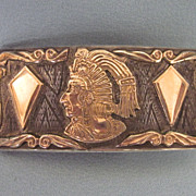 Vintage Sterling Mexican Belt Buckle, Signed