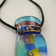 Beautiful Art Glass Signed Pendant, Hawaii