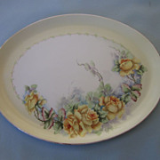 Lovely early 1900's J.P.L. France Limoges Hand Painted Signed Platter
