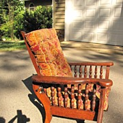Oak Child's Reclining Chair