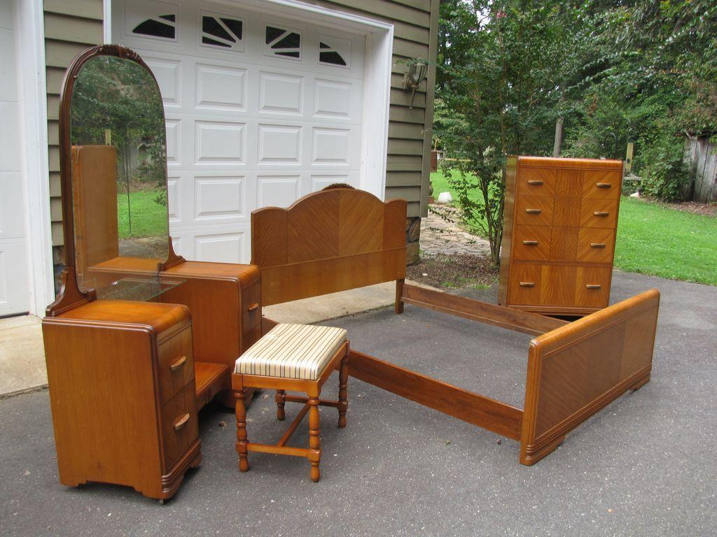 1940s Art Deco Bedroom Furniture Art Deco Waterfall Bedroom