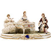 German Porcelain Platform Figural Grouping With Musicians