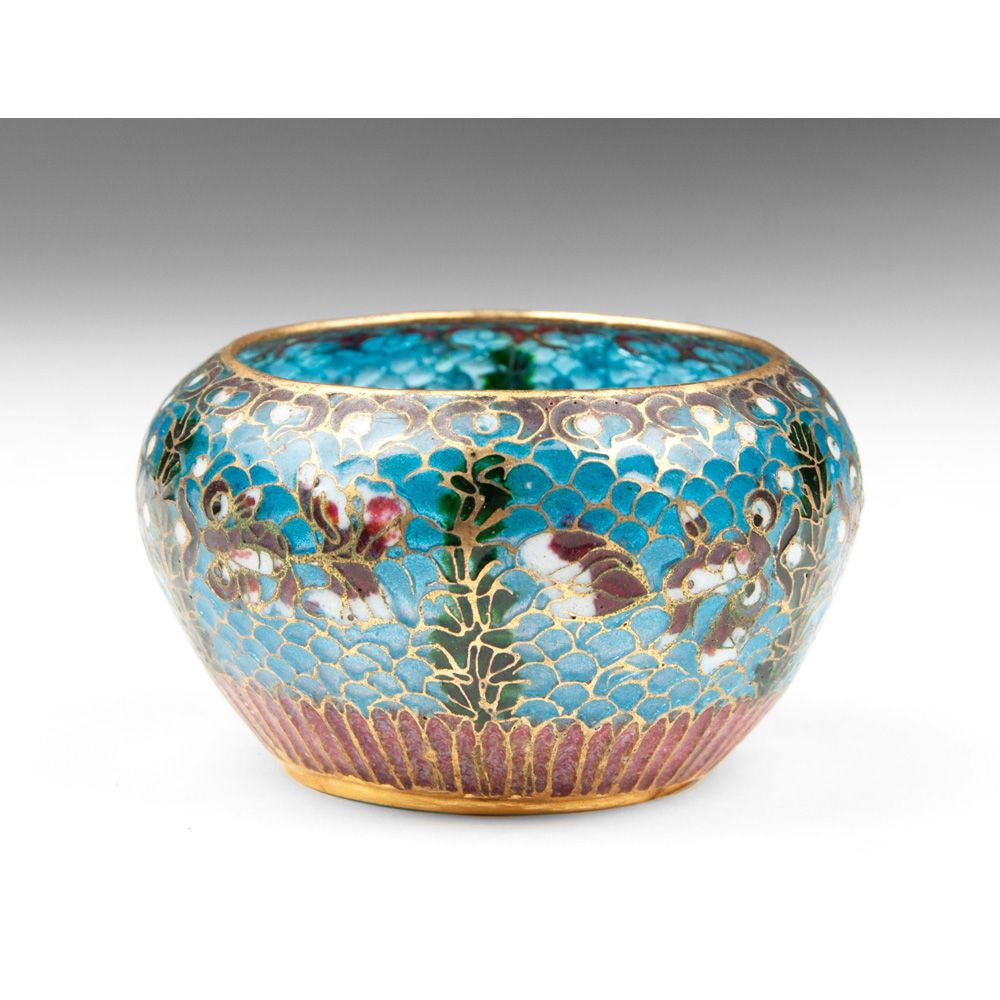 Japanese Plique A Jour Cloisonne Enamel Bowl From Designcorner On Ruby Lane