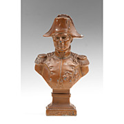 Early 20th C. Spelter Bust of Napoleon