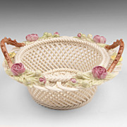 Belleek Porcelain Woven Twig Basket