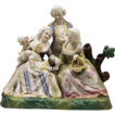 Victorian Bisque Figural Grouping of 18th C. Family