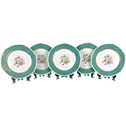 Set of Five Royal Bayreuth Dinner Plates