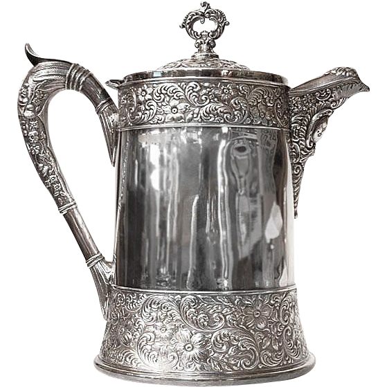 Victorian Webster & Sons Silverplate Hot Water Tankard