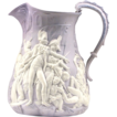 Samuel Alcock Purple Ground Parian Jug