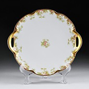 Haviland Cake Plate With Gilded Edge