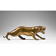 Bronze Stalking Lioness Figure