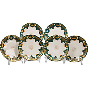 19th C. Limoges Luncheon Plates, Set of Six