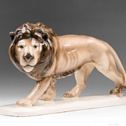 Julius Giesbach Porcelain Figure Of A Lion
