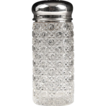 Pressed Glass Victorian Sugar Shaker With Silver Plate Top