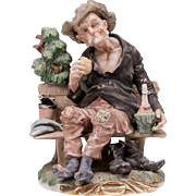 Vintage Italian Porcelain Figurine of Hobo
