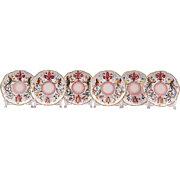 Set of Six Raffaellesco Style Fratelli Fanciullacci Saucers