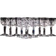 Set of 12 Stuart Crystal Cordials, Pattern Savoy
