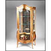 19th C. Vernis Martin Style Vitrine Cabinet
