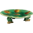 19th C. English Majolica Nautilus Shell Low Comport