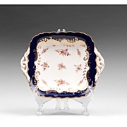 Coalport Square Bowl With Pierced Handles, 1881 � 1939