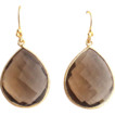 Designs by Ali Gold Plated and Smoky Quartz Earrings
