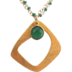 Designs by Ali Gold Plated and Green Onyx Chain with Vermeil Plated Copper Connector