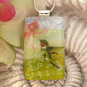 SOLD Reserved For a Customer Hummingbird Necklace