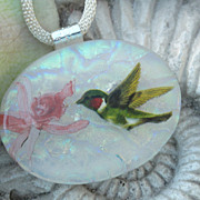 SOLD Hummingbird necklace