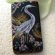 SOLD Reserved Custom Order For E. Fused Glass Egret Exotic Bird