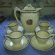 REDUCED Crown Ducal, Eng. 'Rosalie' teapot, cups & saucers