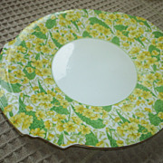 REDUCED Royal Albert 'Primrose' Chintz cake plate, 1930s