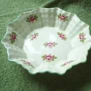 REDUCED Vintage Shelley 'Bridal Rose' candy dish