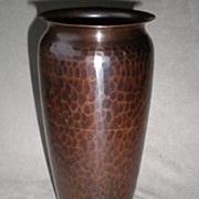 "Magnificent Large ""Roycroft"" Hand Hammered Copper Vase"