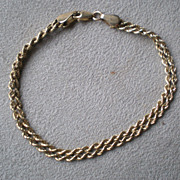 Fabulous 14k Gold Double Chain Bracelet