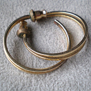 Wonderful 14k Gold Double Hoop Earrings