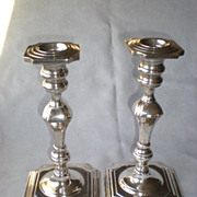 Gorgeous Pair Hamilton Sterling Weighted Tall Candle Sticks