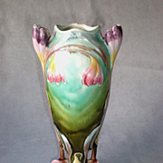 Beautiful Vintage Majolica Art Nouveau Vase