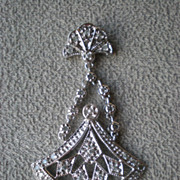 Wonderful 14k White Gold and Diamond Pendant