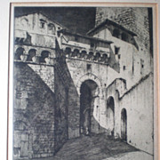 Signed and Dated Etching - Ernest David Roth (1879-1964)