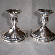Gorgeous International Silver &quot;Prelude&quot; Candle Holders