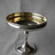 Gorgeous Sterling Weighted Compote with Gold Wash Bowl