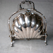 Stunning Victorian Silver Plate Clam Shell Bun Warmer