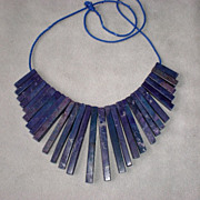 Stunning Natural Lapis Lazuli Bib Style Necklace